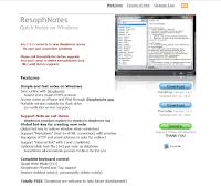 ResophNotes ホームページ