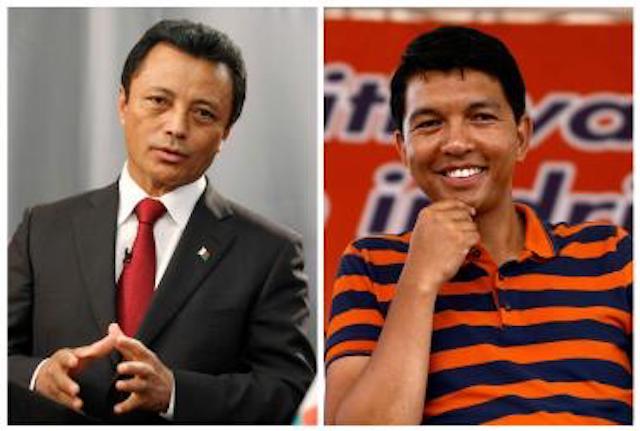 Former presidents of Madagascar, Marc Ravalomanana and Andry Rajoelina