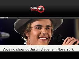 Concurso Você no show do Justin Bieber em Nova York