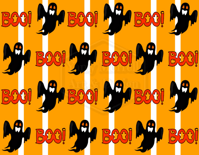 Halloween-ghost-orange-pattern-design-by-yamy-morrell