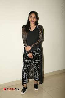 Actress Punarnavi Bhupalam Stills in Black Dress at Pittagoda Press Meet  0128.JPG