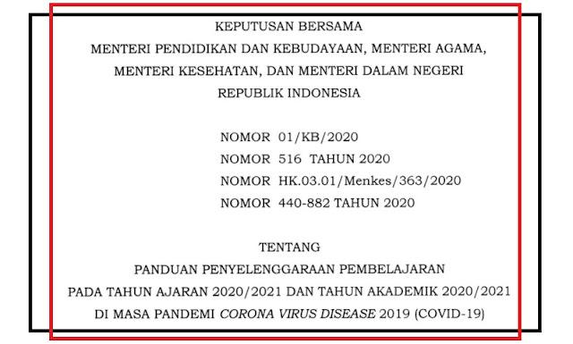 gambar skb panduan pembelajaran tahun 2020 2021