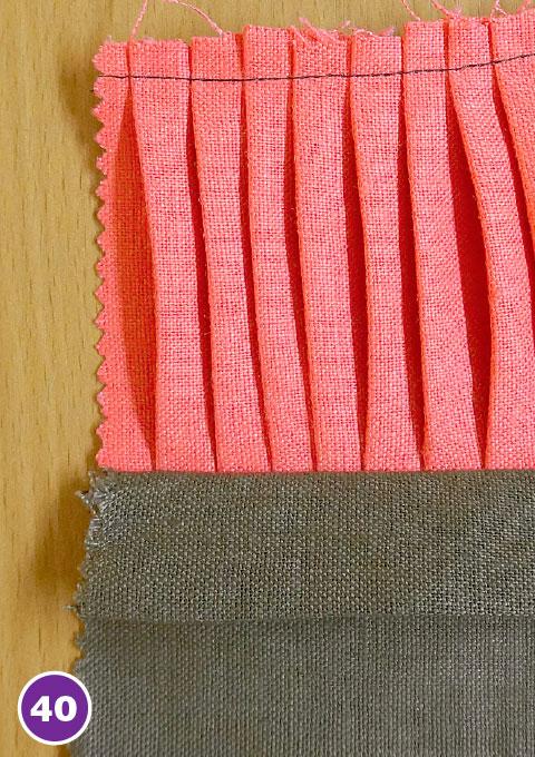 Настрочные складки, вставки, отделка из вытачного шнура и тесьмы