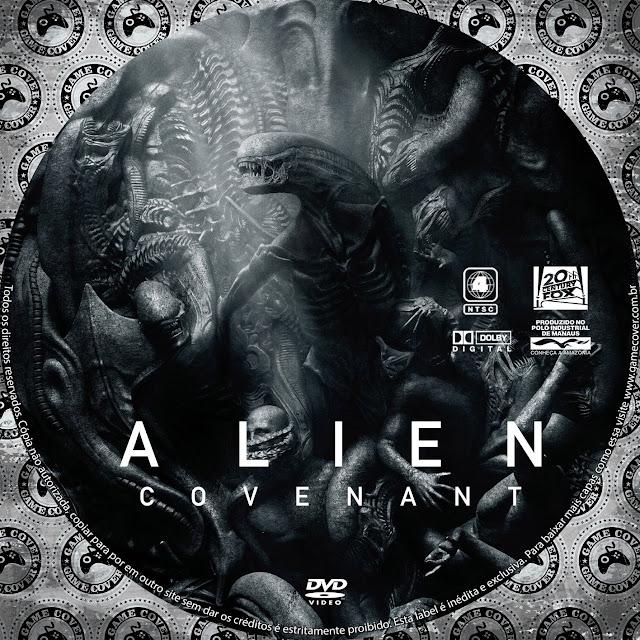 Label Dvd Alien Covenant Exclusiva Gamecover Capas Customizadas Para Dvd E Bluray