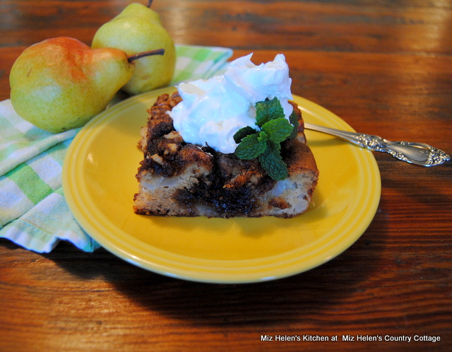 Pear & Walnut Coffee Cake