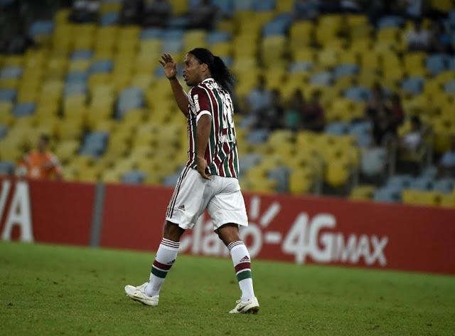 O Fluminense, em 2015, foi o último clube que Ronaldinho defendeu na carreira (Foto: André Durão)