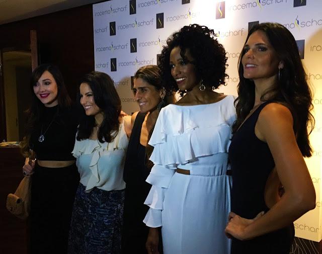 Daniela Sarayba com Iracema Scharf e outras celebridades
