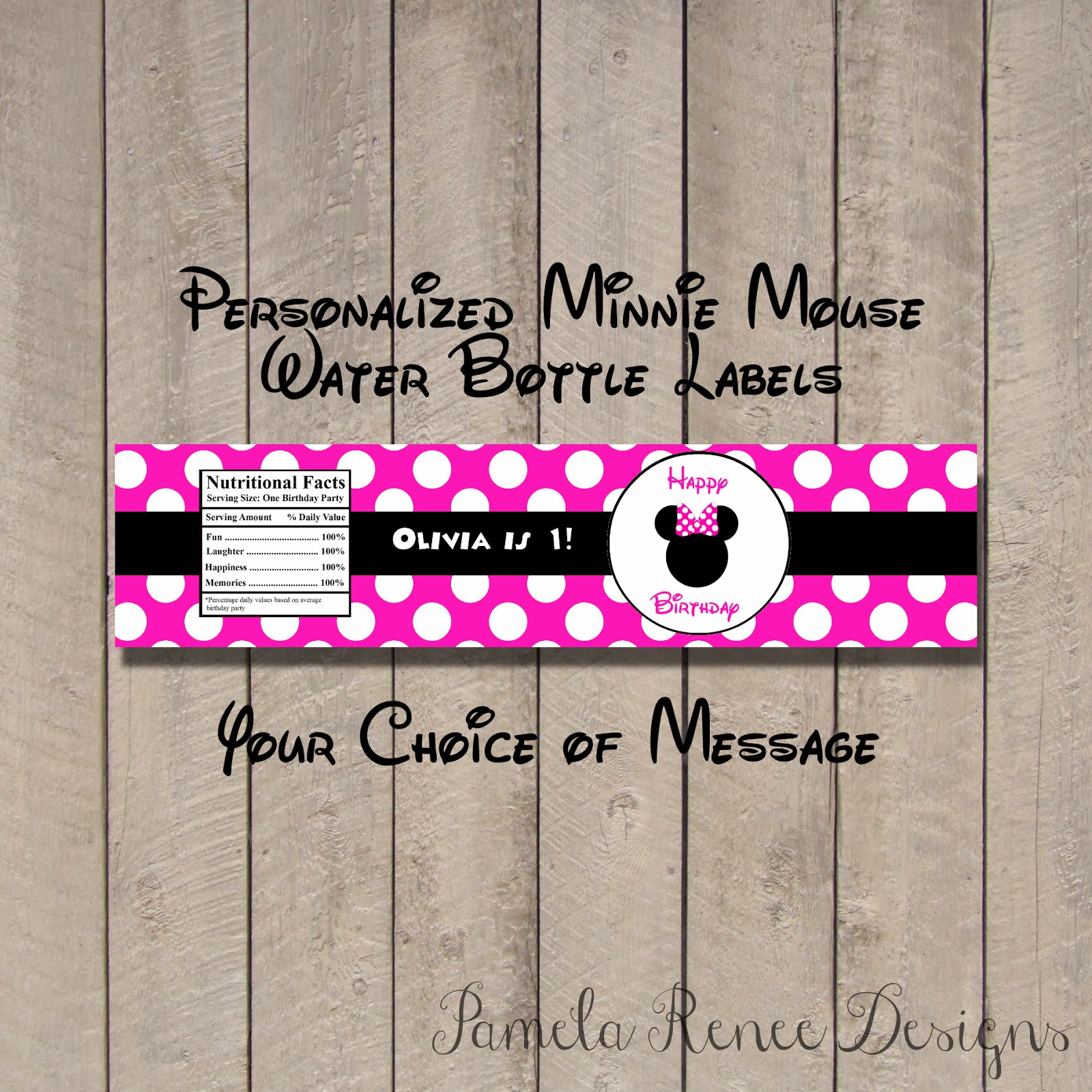 pamela renee designs  party theme  pink or red minnie mouse party  plus assembly instructions
