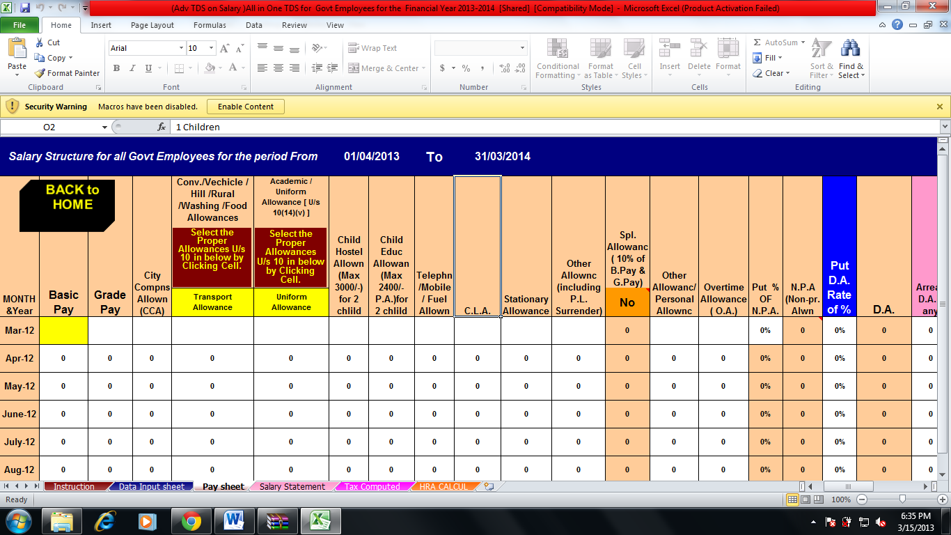 Income Tax Calculator For Financial Year 14 Andysis Year 15