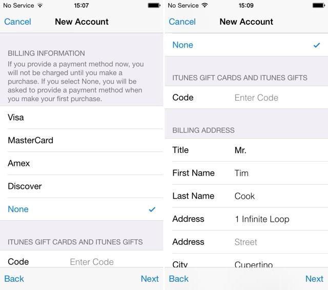 Cara Membuat Apple ID Tanpa Kartu Kredit - langkah 7