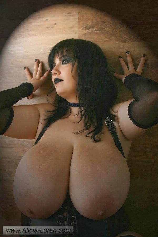 alicia loren s huge boobs