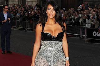Kim Kardashian shapely booty