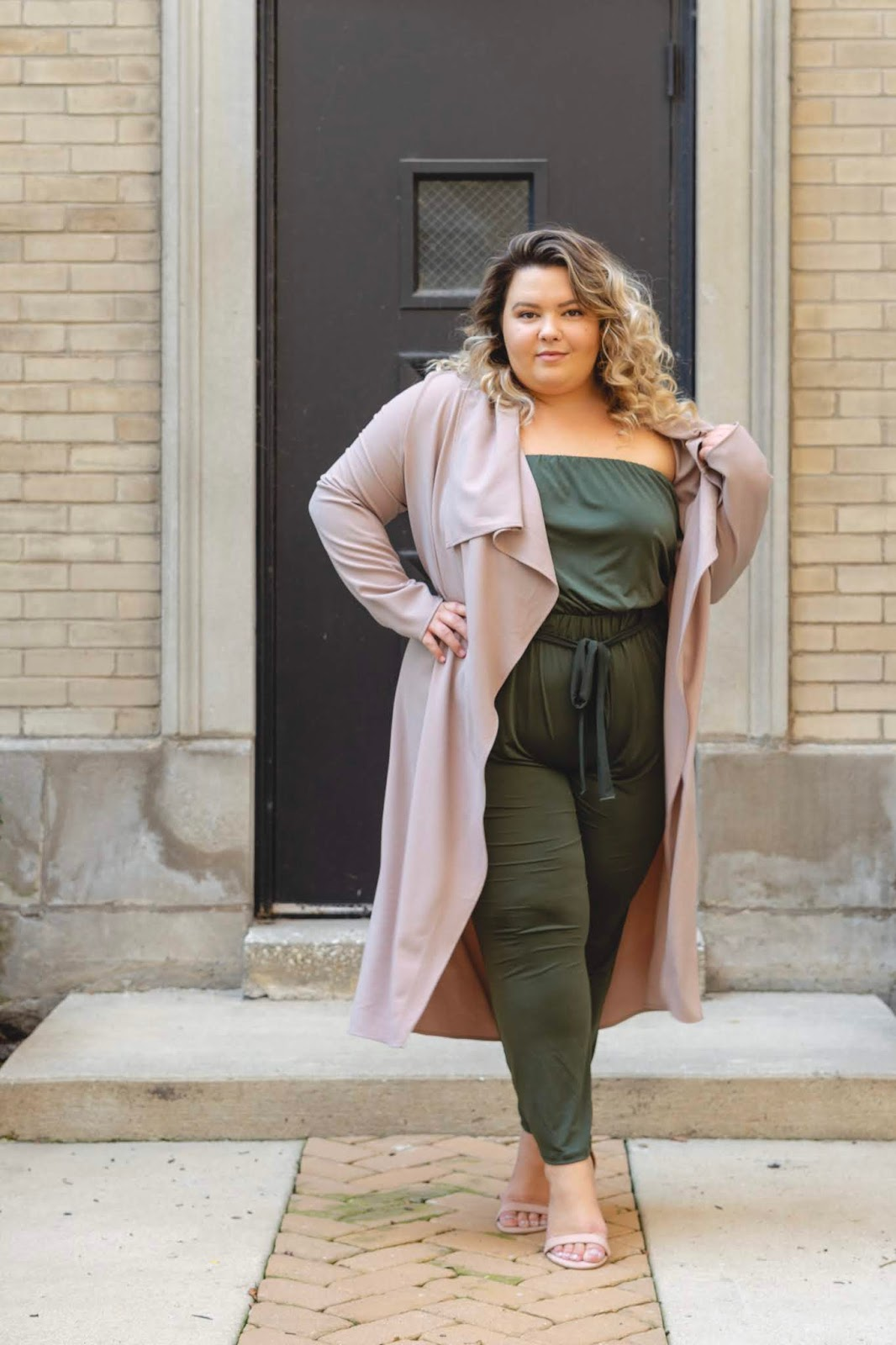 Chicago fashion blogger, Chicago plus size fashion blogger, natalie Craig, natalie in the city, plus size fashion, Chicago fashion, plus size fashion blogger, eff your beauty standards, fatshion, skorch magazine, Chicago model, plus size model, plus size petite, affordable plus size clothing, embrace your curves, plus model magazine,  petite plus size, fashion nova, fashion nova curve, jumpsuit, plus size jumpsuit, flattering jumpsuits, plus size trench duster coat