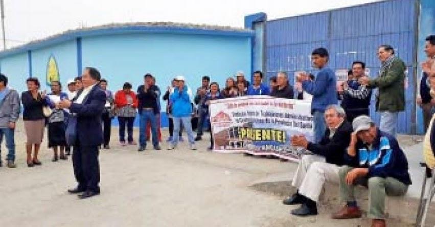 Trabajadores administrativos de sector educación de la Provincia del Santa inician paro de 48 horas - Áncash