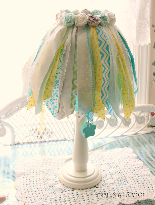 My Lamp Makeover With Fabric Scraps Crafts A La Mode