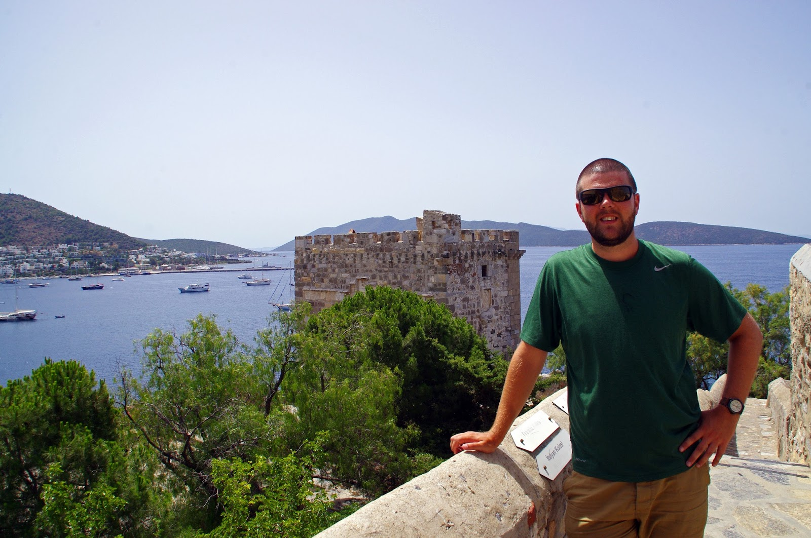 Male with views from Bodrum Castle