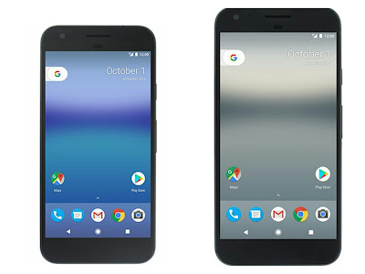 Press image of Google Pixel and Pixel XL leaks