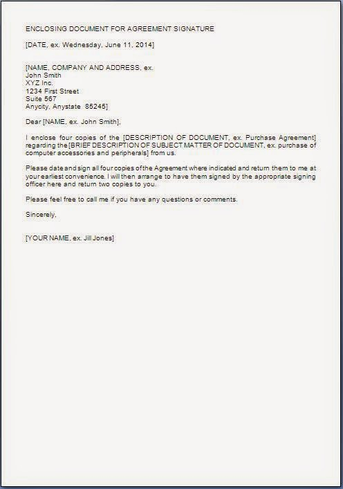 Cover Letter For Signed Documents