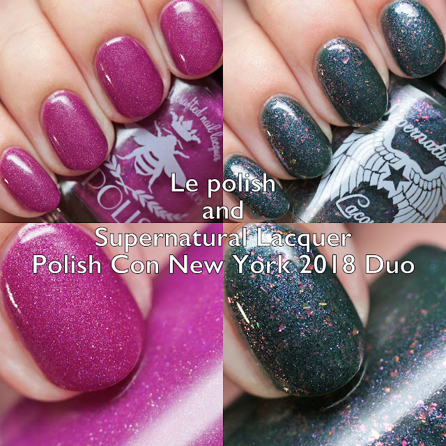 Le polish and Supernatural Lacquer Polish Con New York 2018 Duo