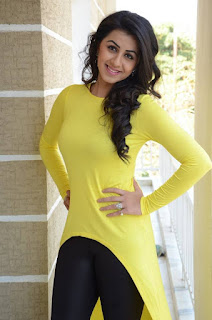 Actress Nikki Galrani Latest Picture Gallery in Yellow Top and Tights  0005