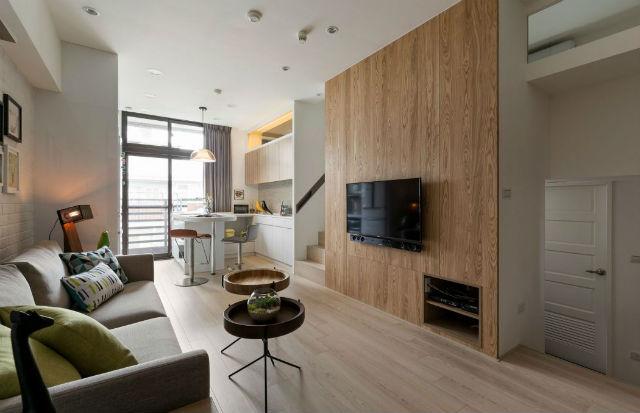 Mejoras en casa gratis y en menos de 5 minutos, comedor con pared de madera y TV colgado