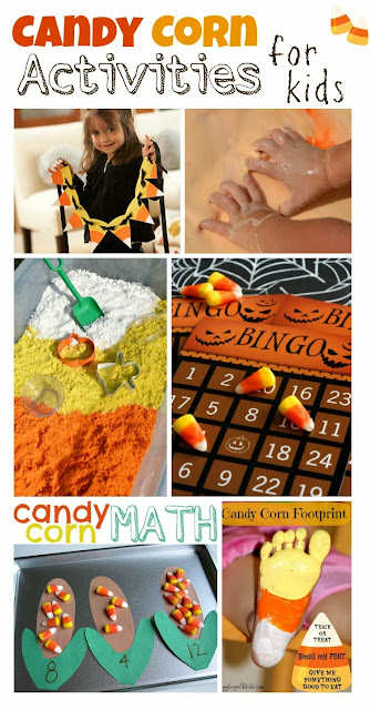 Fun and educational candy corn activities for kids- lots of fun ideas for Fall!