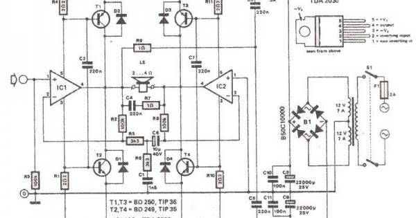 Wiring & diagram Info: 200 Watt Amplifier Wiring diagram