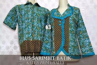 Belanja blus batik couple sarimbit 2015 murah dan modern