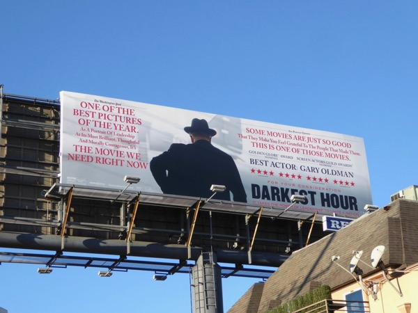 Darkest Hour movie FYC billboard