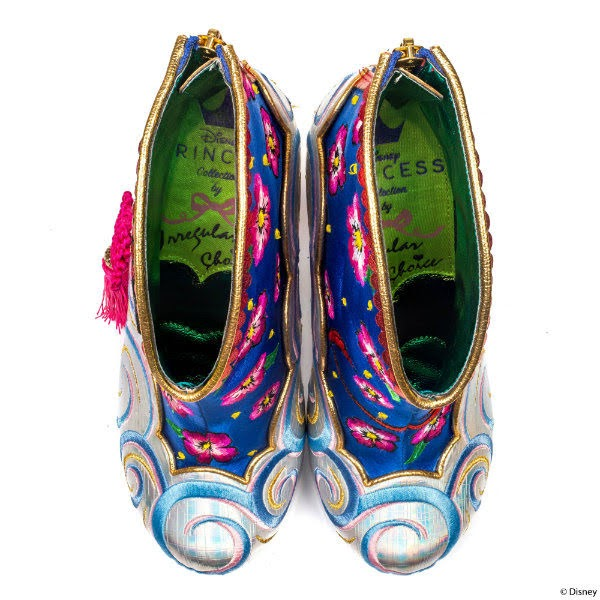 Irregular Choice insoles inside boots Disney Princesses branding