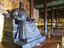 Statue of the Emperor Zhu Di, builder of The Forbidden City and parts of The Great Wall, Beijing