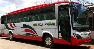 Rute dan Tarif Bus Yoanda Prima