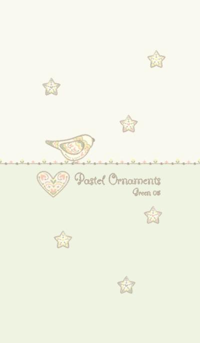 Pastel ornaments/Green05