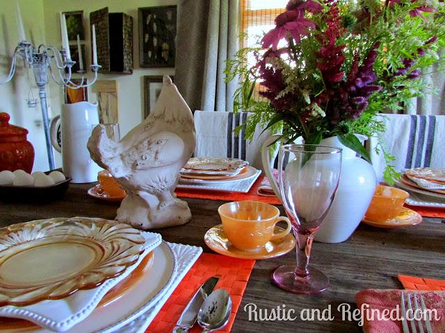 Summer Breakfast Tablescape