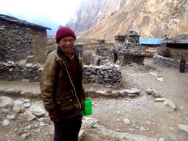 Local people of Manaslu trekking Nepal