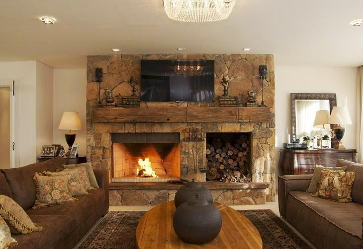 10 fotos de salas r sticas salas con estilo - Fotos de chimeneas rusticas ...