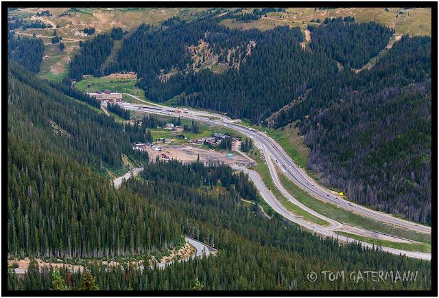 Interstate 70's Eisenhower Tunnel from Loveland Pass