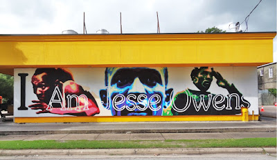 Breakfast Klub - I Am Jesse Owens mural