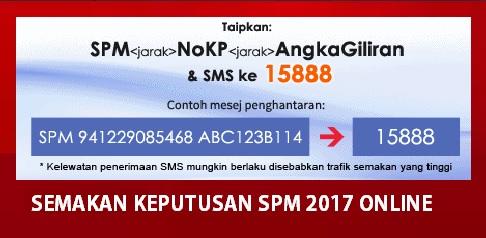 cara semak result spm 2017 online