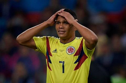 Tiền đạo Bacca của tuyển Colombia