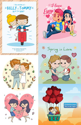 6-nen-do-hoa-cap-doi-yeu-nhau-couple-love-vector-7302