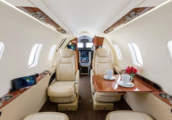 Bombardier Learjet 75 cabin
