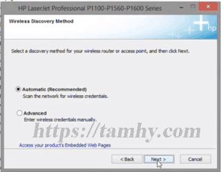 Hướng dẫn cài đặt máy in Hp P1102W qua wifi 12