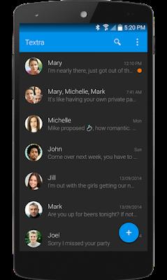 تطبيق Textra SMS لتخصيص الرسائل النصية, برنامج رسائل sms مجانية للاندرويد