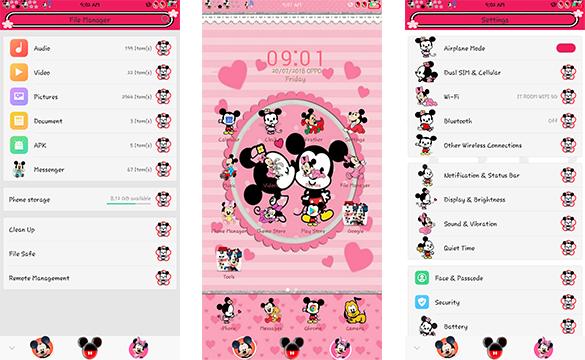 Oppo Theme: Oppo Cute Mickey Mouse Theme