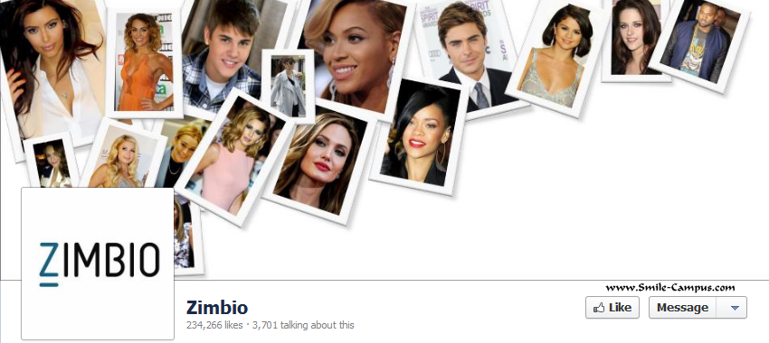 Facebook Fan Page of Zimbio.com