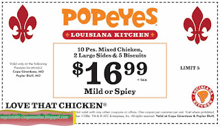 Free Printable Popeyes Chicken Coupons