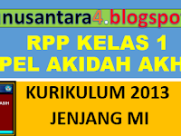 RPP AQIDAH AKHLAQ KELAS 1 SMT 1.doc