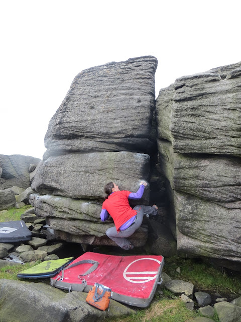 BOULDERING on the unique natural sculpture of the Lancashire moors
