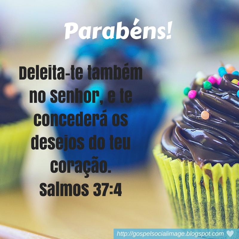 Imagem com mensagem bíblica de aniversario